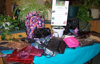 "We cordially ""purse-suades"" you to help us ""purse-sue"" a very special kind of Silent Auction."