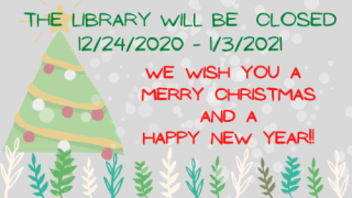 12/21/20 Holiday Hours